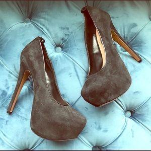 Black Suede Stilettos Size 7
